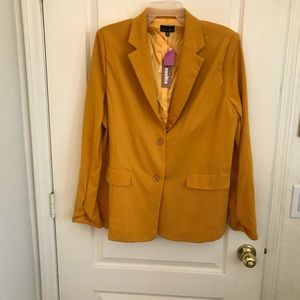 Plus size two buttons blazer
